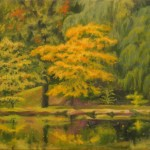 """Olmsted Park 18 x 20"""" Oil on Canvas 2005"""