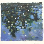 "Star Pond - Gouache on Paper - 5.5 x 6"" - 2016"