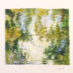 "Tifft Pond - Gouache on Paper - 5.5 x 6"" - 2015"